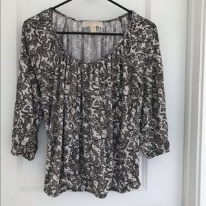 Michael Kors Long Sleeve Blouse Size L